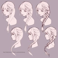 Swipe→→→ To help you with this week's challenge for #SketchWithAsia a bit, I did a quick demo. Hope you'll find it helpful! Voice-over video about how I draw braids and hair in general soon on my Patreon page! _ Patreon.com/Ladowska