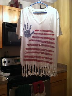 DIY Fourth of July shirt!❤