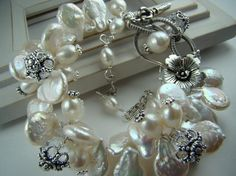 Pearls and charms bracelet