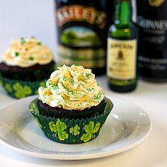 Irish Car Bomb Cupcakes Recipe | Brown Eyed Baker /// My absolute favorite thing to bake my bartenders