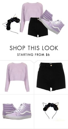 """Untitled #5079"" by kris-mathers ❤ liked on Polyvore featuring Topshop, River Island and Vans"
