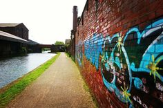 Graffiti. Leeds/Liverpool canal. Liverpool