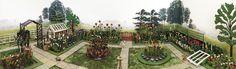 Britains miniature lead garden set 1 Britains Toys, Toy Soldiers, Vintage Toys, Porches, Planting Flowers, Dolores Park, Landscaping, Miniatures, Gardens