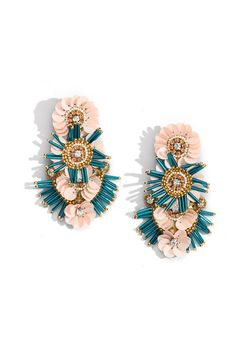 Bridal Earrings, Beaded Earrings, Beaded Jewelry, Stud Earrings, Diy Statement Earrings, Handmade Silver Jewellery, Earrings Handmade, American Diamond Jewellery, Clay Jewelry