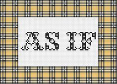 As If Clueless Cross Stitch - Digital Download Pattern by TheColoradoStitchery on Etsy