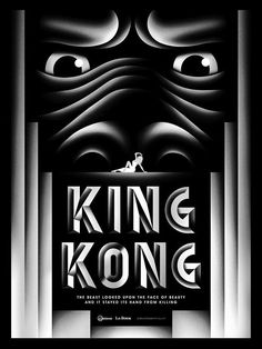 movieposteroftheday:  80th anniversary poster for KING KONG (Merian C. Cooper & Ernest B. Schoedsack, USA, 1933) [see also] Designers: L...