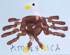I <3 Handprint crafts!  American Eagle Fourth of July Crafts for Kids