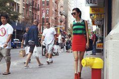(Marcs Top, Topshop Shirt, Supre Skirt, Vintage Boots, Flint Glasses, See By Chloe Bag)
