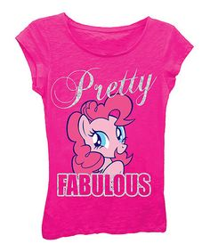 This Hot Pink 'Pretty Fabulous' My Little Pony Tee - Girls by My Little Pony is perfect! #zulilyfinds