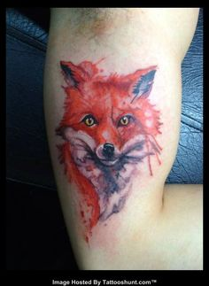 fox-head-abstract-tattoo-on-bicep.jpg (594×813)