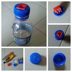 Alegría de Meijo: debes volver a herramientas de la escuela - ..Drinking botella + Sacapuntas
