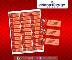 Super Mario Printable and Personalized Address Labels. Mario Odyssey Printable Party Kit / Etiquetas para Direcciones Imprimibles y Personalizadas inspiradas en Mario Odyssey. Mario Bros Imprimibles para fiestas.  #etiquetas #etiquetasparadirecciones #supermario #arianadesignstore #mariobros #addresslabel #marioparty #label #mail #stickers #letter #fiestamario #mariobirthday #marioodyssey #pegatinas #printablesupermario #kitimprimible #printable #videogameparty Invitation Kits, Unique Invitations, Personalized Invitations, Printable Invitations, Party Printables, Birthday Invitations, Super Mario Party, Super Mario Bros, Mailing Labels