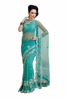 Fabdeal Indian Designer Net & Georgette Blue Embroidered Saree Fabdeal, http://www.amazon.co.uk/dp/B00INWMK7I/ref=cm_sw_r_pi_dp_c6Pntb085HZYE