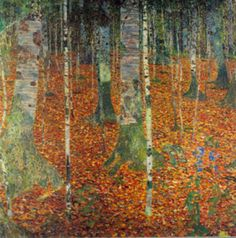 Gustav Klimt, Farmhouse with Birch Trees, 1903, Oil on canvas, 110 x 110 cm. Klimt is not as well known for landscapes as his figurative work, but they took my breath away when I first encountered his landscapes in a museum. Klimt, the unrecognized master.