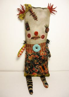 Handmade Art Doll Monster Mimi Fellini by JunkerJane on Etsy