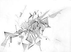 Random lines form shapes doodle