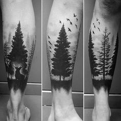 40 Tree Leg Tattoo Design Ideas for Men - Rooted Ink - Tattoo ideen männer - tattoos Trendy Tattoos, Popular Tattoos, Tattoos For Guys, Cool Tattoos, Tattoos Of Trees, Tree Leg Tattoo, Forest Forearm Tattoo, Man Leg Tattoo, Tree Sleeve Tattoo