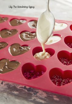 Bisque This! : Gourmet Chocolate Heart Candies – Made At Home! Bisque This! : Gourmet Chocolate Heart Candies – Made At Home! Valentine Desserts, Valentines Baking, Valentine Chocolate, Chocolate Hearts, Valentines Day Treats, Chocolate Gifts, Chocolate Molds, Valentine Food Ideas, Melting Chocolate