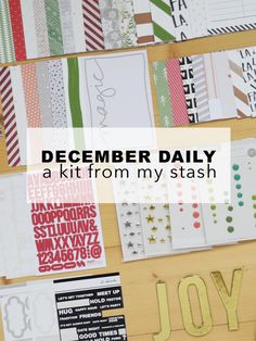 Create Share Love | December Daily Kit from my Stash 1