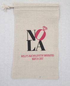10 Bachelorette Party Favor, Hangover Kit, Survival Kit Favor Bags - Bachelorette New Orleans NOLA Recovery Kit, Custom
