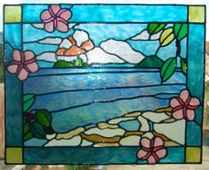beach scene stained glass patterns - Google Search
