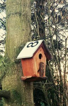 Birdhouse vogelhuis zelfgemaakt
