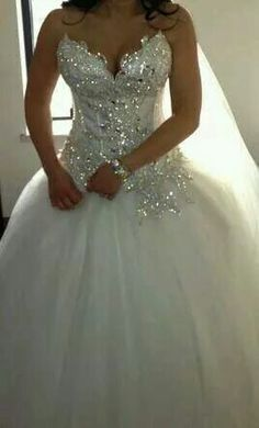 I love blinged out wedding dresses