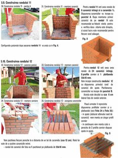 Cum se construieste un gratar din caramida? Bbq Grill Diy, Stone Bbq, Outdoor Barbeque, Brick Construction, Picnic, Basket, Photos, House, Brick Bbq