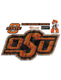 Fathead 6-pc. Oklahoma State Cowboys Realtree® Logo Wall Decals | Stage Stores