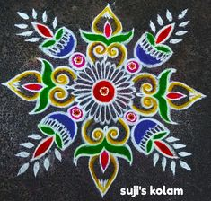 Rangoli Designs Flower, Rangoli Border Designs, Rangoli Patterns, Colorful Rangoli Designs, Rangoli Ideas, Rangoli Designs Diwali, Beautiful Rangoli Designs, Mehndi Designs, Free Hand Rangoli Design