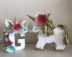 Unicorn Gift Set/ Unicorn Centerpiece/ Unicorn First Birthday/ Unicorn Photo Prop/ Unicorn Bridal Shower/ Unicorn Baby Shower