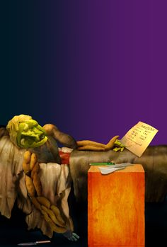 'The Vegetable Museum', famous paintings recreated with vegetables, by Chinese artist Ju Duoqi: The Death of the Cabbage Head. Inspired by Jacques-Louis David's The Death of Marat. http://juduoqi.com/serice_museum.html