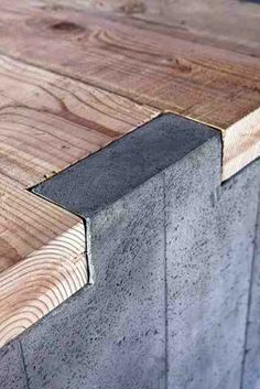 CONCRETE WOOD joint.jpg http://jimfairfax.blogspot.com/2013/03/be-smart-materials-and-design.html