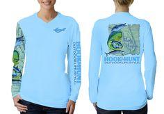 Ladies Lady Angler Performance Shirt designed by Hook & Hunt Outdoor Lifestyle. UPF 40, moisture wicking and made in the USA.