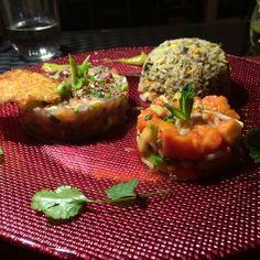 Tartare de saumon Baked Potato, Potatoes, Stuffed Peppers, Baking, Vegetables, Ethnic Recipes, Food, Salmon Tartare, Pisces