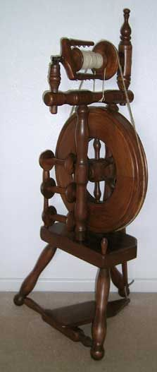 wee peggy spinning wheel - my uncle used to work for wee peggy, and made special versions of these for his family members. I've inherited three!