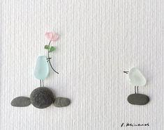 Birds, love, pebble art, romantic, pebbles, Pebble, pebble image, birthday