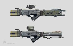 """Weapons concept I did for """"Motor Planet"""" mobile game. http://www.motorplanetgame.com/"""