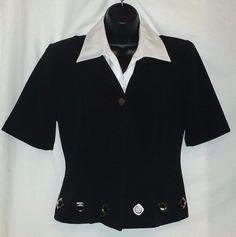 ISB Inc Polyester Blend Black Jacket Size 12 #ISB #Jacket