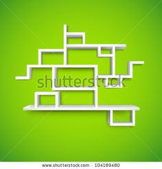 Illustration Of Empty Shelf On Wall For Presentation - 104189480 : Shutterstock