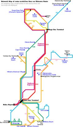 Okinawa bus map. Page has a list of the best beaches :)