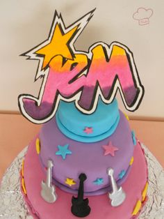Jem and the Holograms Cake facebook.com/touchepatisserie