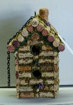 birdhouse wine cork  I guess I will have to start drinking