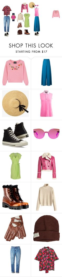 """hollyhocks"" by falsettcyborg ❤ liked on Polyvore featuring Boutique Moschino, MARIOS, Converse, Moschino Cheap & Chic, Kenzo, Prada, Maison Fabre, Krochet Kids, Calvin Klein and MANGO"