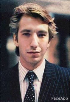 Alan Rickman photo made young with Face App