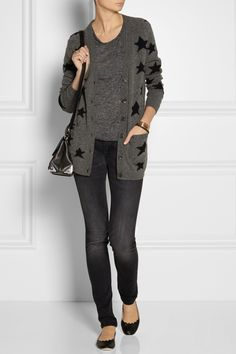 ❤️❤️❤️ the whole outfit. {Chinti and Parker|Star-intarsia wool cardigan|NET-A-PORTER.COM}