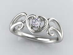 promise rings for girlfriend | Christopher Michael Designed Waves of Love Promise Ring