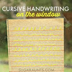 Learn cursive writing with this cursive handwriting activity to learn cursive letters, lines, and connecting lines on the window. Repinned by myPTsolutions.  Follow us at pinterest.com/myptsolutions