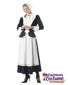 Pilgrim Woman Adult Costume | Womens Thanksgiving Halloween Costumes