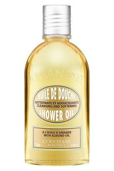 This shower oil, enriched with the sweet scent of fresh almond, provides the ultimate in-shower moisture surge. It transforms from an oil into a delicate foam when combined with water and leaves the skin cleansed and elegantly supple. L'Occitane Almond Shower Oil, $25, available at Sephora. #refinery29 http://www.refinery29.com/french-beauty-products#slide-5